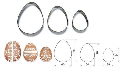 AZ-3836 Vykrajovačky veľkonočné vajíčka sada 3ks 7081
