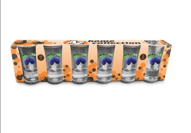 AZ-45890 Poháriky na pálenku 35ml/6ks slivky 8906